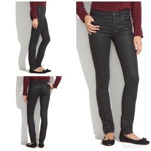 Madewell 03740 Skinny Black Coated Jeans 26 X 32